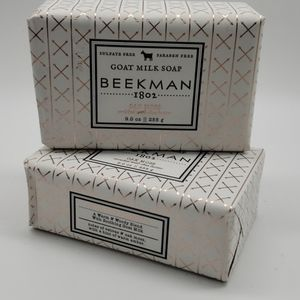 2 Beekman 1802 Oak Moss Goat Milk Soap Bars 9oz ea